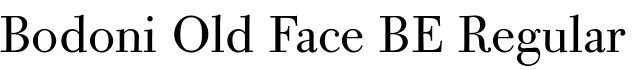 Bodoni Old Face BE