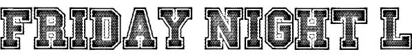 Free Varsity BLOCK Fonts