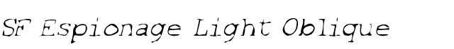 SF Espionage Light Oblique