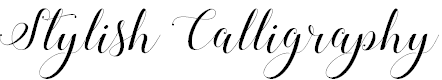 Stylish Calligraphy Demo