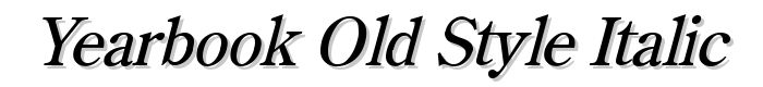 Yearbook Old Style Italic